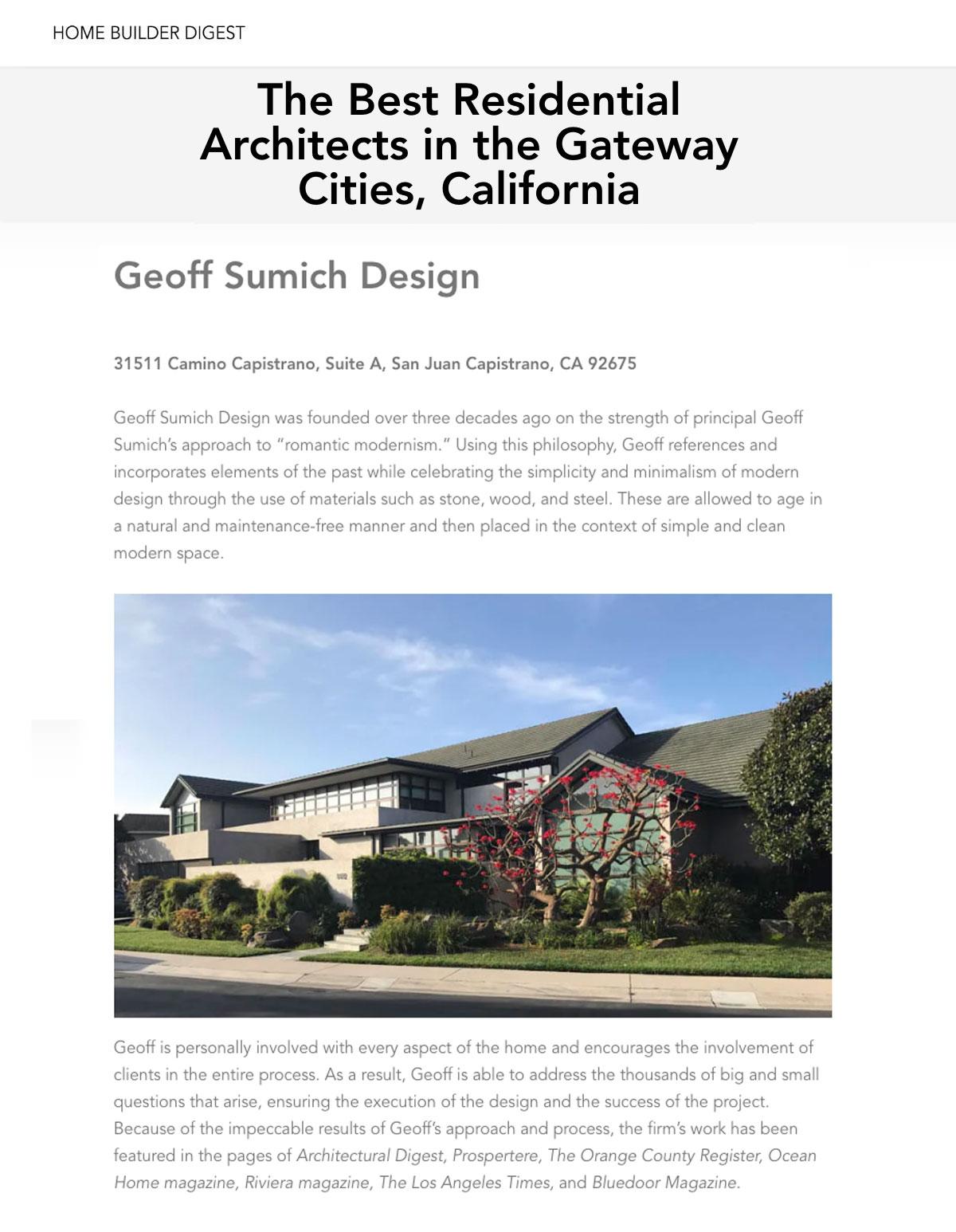 Architect Orange County - Geoff Sumich Design